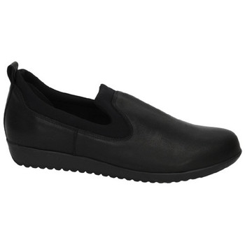 Zapatos Mujer Mocasín Saoh Zapatillas de piel Negro