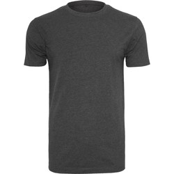 textil Hombre Camisetas manga corta Build Your Brand BY004 Carbón