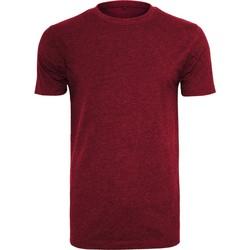 textil Hombre Camisetas manga corta Build Your Brand BY004 Vino