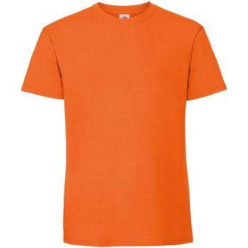 textil Hombre Camisetas manga corta Fruit Of The Loom 61422 Naranja
