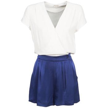 textil Mujer Monos / Petos Naf Naf KLOVIS Blanco / Azul