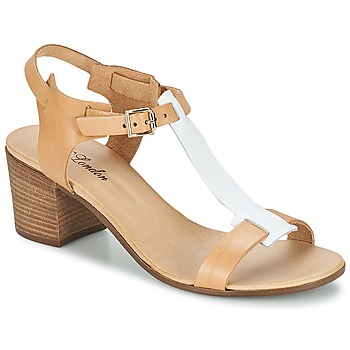 Zapatos Mujer Sandalias Betty London GANTOMI Camel / Blanco