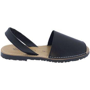 Zapatos Sandalias Huran Sandalias Menorquinas Negro Negro