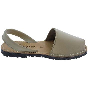 Zapatos Sandalias Huran Sandalias Menorquinas Beige Beige