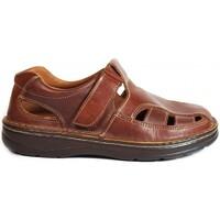 Zapatos Hombre Sandalias La Valenciana Sandalias  822 Cuero Marrón