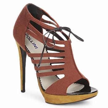 Zapatos Mujer Sandalias Pollini PA1602 Rojizo