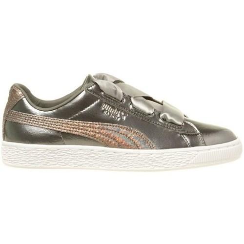 Zapatos Niños Zapatillas bajas Puma Basket Heart Lunar Lux JR Plateado