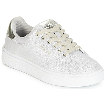 Zapatos Niña Zapatillas bajas Kappa SAN REMO KID Blanco / Plata