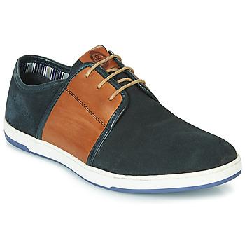 Zapatos Hombre Zapatillas bajas Base London JIVE Azul / Camel