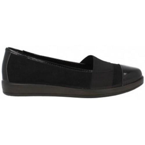 Zapatos Mujer Mocasín Momem 00346 Negro