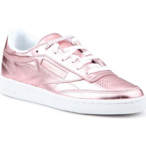 Zapatos Mujer Zapatillas bajas Reebok Sport Club C 85 S Shine CN0512 rosado