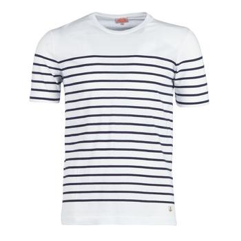textil Hombre camisetas manga corta Armor Lux YAYALOUT Blanco / Marino