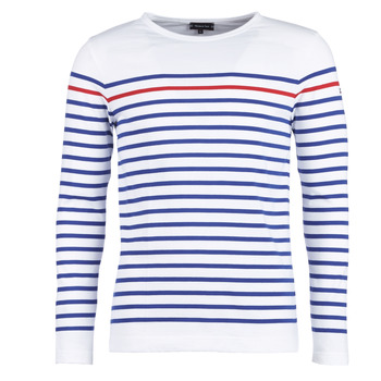 textil Hombre Camisetas manga larga Armor Lux YAYAYOUT Blanco / Azul / Rojo