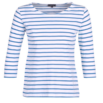textil Mujer Camisetas manga larga Armor Lux YAYAROULE Blanco / Azul