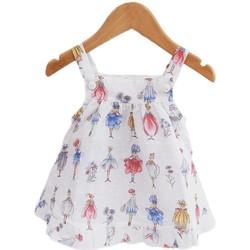 textil Niña Vestidos cortos Sardon 18AP-1391 Blanco
