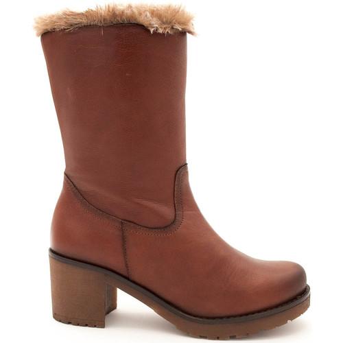 Zapatos Mujer Botas Giorda 40542 Beige