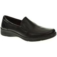 Zapatos Mujer Mocasín Blanco Y Negro 2840 negro
