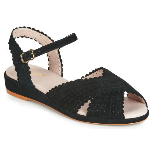 Zapatos Mujer Sandalias Miss L'Fire BRIGITTE Negro