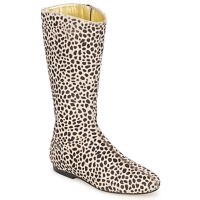 Zapatos Mujer Botas urbanas French Sole PATCH Leopardo