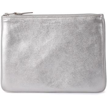 Bolsos Mujer Bolso pequeño / Cartera Comme Des Garcons Bolso clutch de piel plata Plata