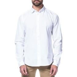 textil Hombre camisas manga larga Fil Noir 50907 Blanco
