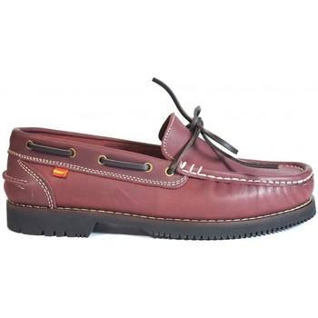 Zapatos Mujer Zapatos náuticos La Valenciana Zapatos Apache  Olivenza Burdeos Rojo