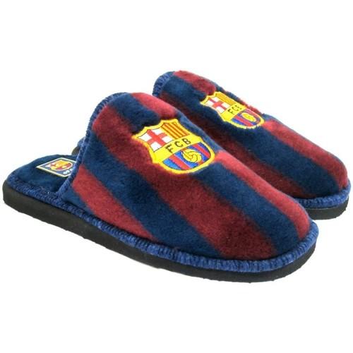 Zapatos Mujer Pantuflas Andinas Zapatillas FC Barcelona Rojo