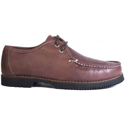 Zapatos Hombre Mocasín La Valenciana Zapatos Línea Apache Wallabee Cordón Burdeos Rojo