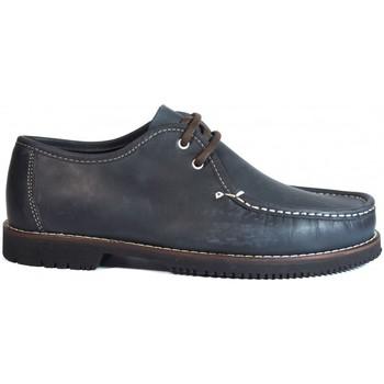 Zapatos Hombre Mocasín La Valenciana Zapatos Línea Apache Wallabee Cordón Azul Azul