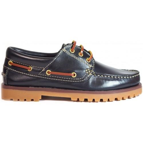 Zapatos Hombre Zapatos náuticos Roal Zapatos La Valenciana 848 Marino Azul