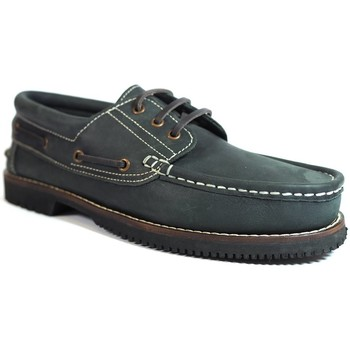 Zapatos Hombre Zapatos náuticos La Valenciana Zapatos Línea Apache Cordón Azul Azul