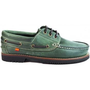Zapatos Hombre Zapatos náuticos La Valenciana Zapatos Línea Apache Cordón Verde Verde