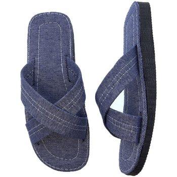 Zapatos Hombre Sandalias Selquir Zapatillas De Casa  441 Tejano Azul