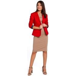 textil Mujer Vestidos Style S154 Blazer de un solo botón - rojo