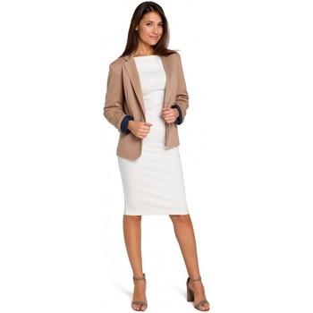 textil Mujer Tops / Blusas Style S154 Blazer de un solo botón - beige