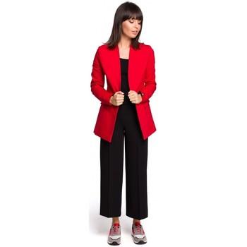 textil Mujer Vestidos Be B103 Blazer abierto en mezcla de algodón - rojo