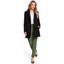 textil Mujer Faldas Moe M429 Blazer largo con doble botonadura - negro