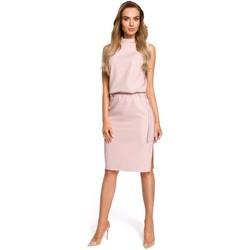 textil Mujer Vestidos Moe M423 Vestido blusón con espalda dividida - polvo