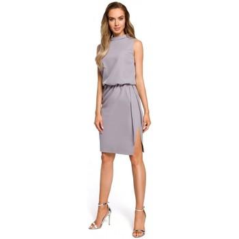 textil Mujer Vestidos Moe M423 Vestido blusón con espalda dividida - gris