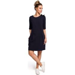 textil Mujer Tops / Blusas Moe M422 Vestido de cintura caída con lazo - azul marino