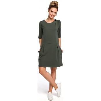 textil Mujer Vestidos cortos Moe M422 Vestido de cintura caída con lazo - verde militar
