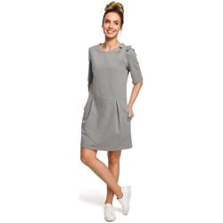 textil Mujer Vestidos Moe M422 Vestido de cintura caída con lazo - gris