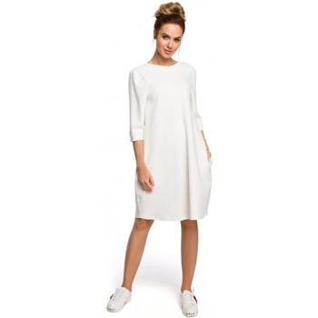 textil Mujer Vestidos Moe M417 Vestido con escote en la espalda - color crudo