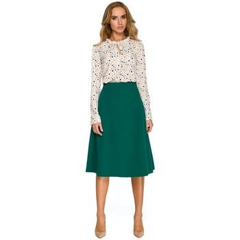 textil Mujer Sudaderas Style S134 Blusa con volantes y cuello de corbata - color crudo