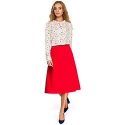 textil Mujer Sudaderas Style S133 Falda midi en forma de A - roja