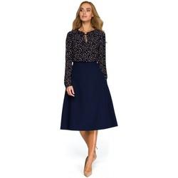 textil Mujer Tops / Blusas Style S133 Falda midi de línea A - azul marino