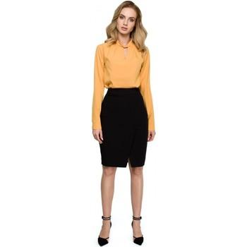 textil Mujer Vestidos Style S127 Falda lápiz envolvente - negra