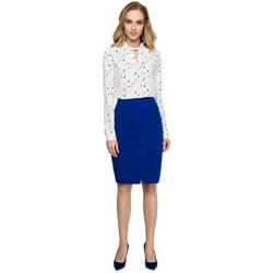 textil Mujer Chaquetas de punto Style S127 Falda lápiz envolvente - azul real