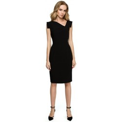 textil Mujer Faldas Style S121 Vestido lápiz con escote asimétrico - negro
