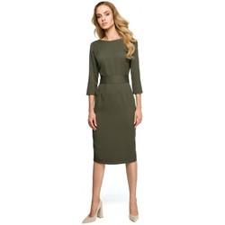 textil Mujer Vestidos Style S119 Vestido liso con botones - caqui